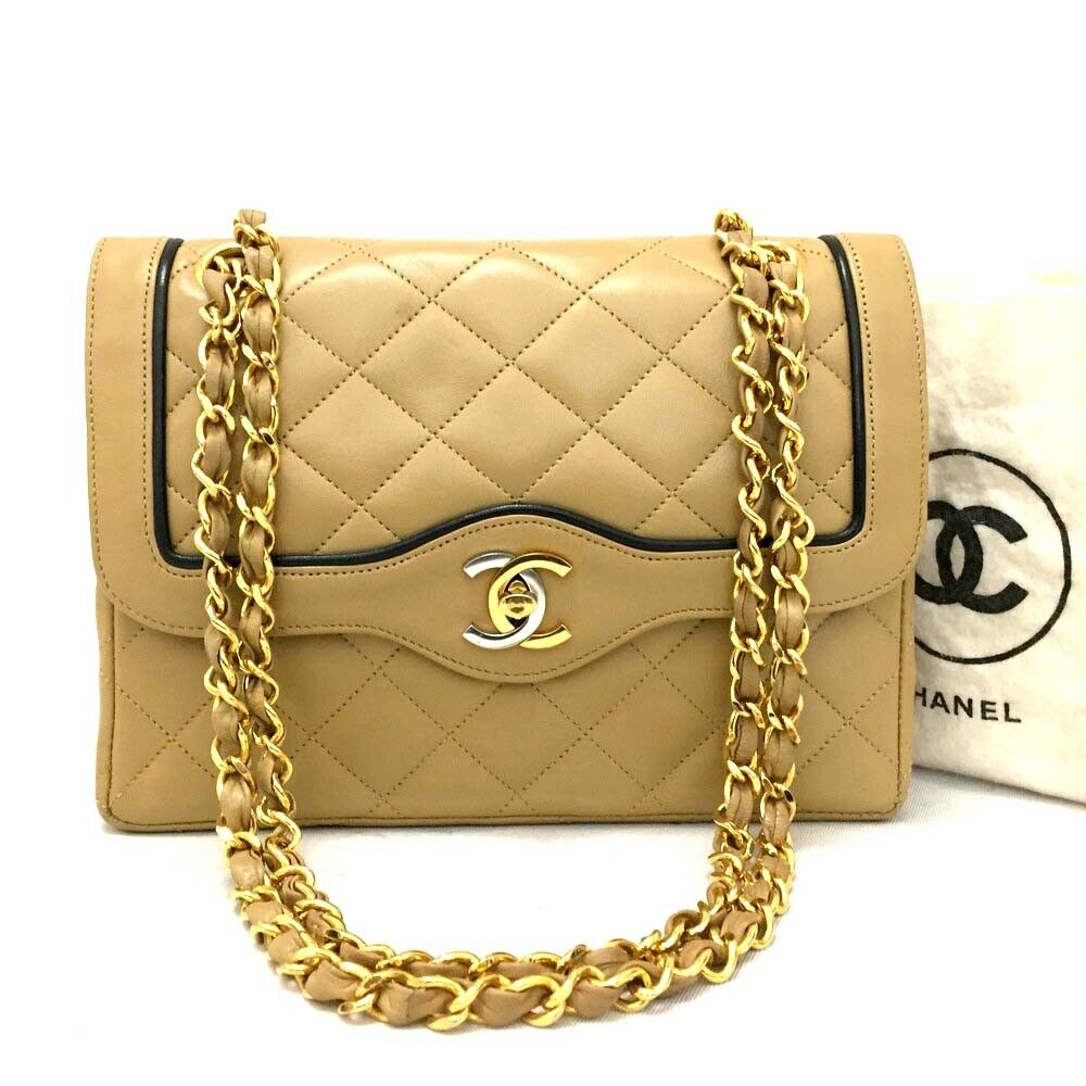 Vintage CHANEL Paris Limited Double Flap Quilted Lambskin Shoulder Bag / oIHI x