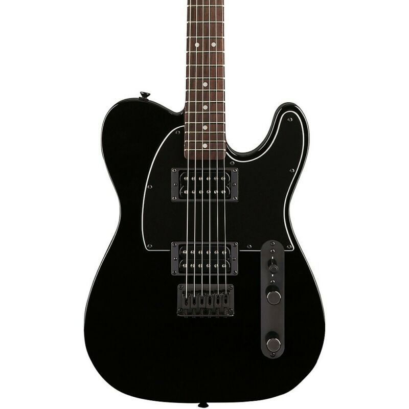 Squier Affinity Telecaster HH Guitar with Matching Headstock Metallic Black