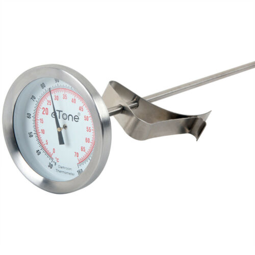 Darkroom Chemical Thermometer 43.5mm Dial Film Processing Developing Dual Unit