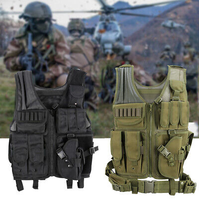 Tactical Military Vest Swat Airsoft Molle Combat Assault Plate Carrier CS Vest