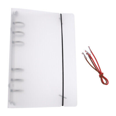 PP Notebook rund-Ring-Binder Abdeckung A5/ A6/A7 Loose Leaf Ordner mit 6 Löchern (Runde Ring Binder)