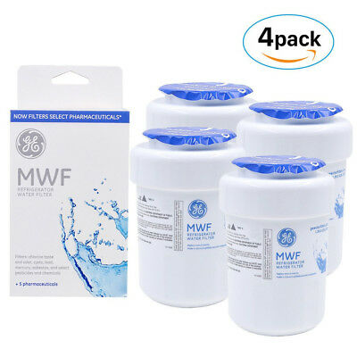 4 PACK GE MWF MWFP 46-9991 GWF HWF WF28 SmartWater Fridge Water Filter US
