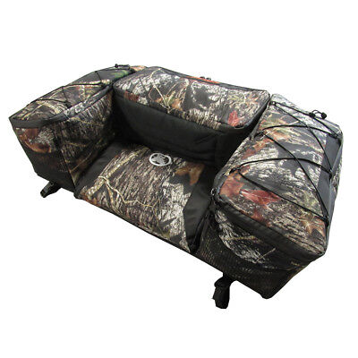 Cargo Seat (Kolpin ATV Rear Rack Seat Gear Cargo Cooler Bag Pad Backrest Mossy Oak)