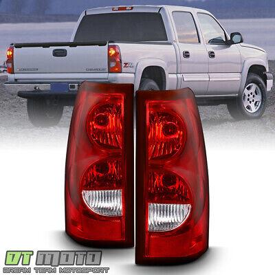 2003-2006 Chevy Silverado 1500 2500 3500 Tail Lights Brake Lamps w/ Bulb+Harness