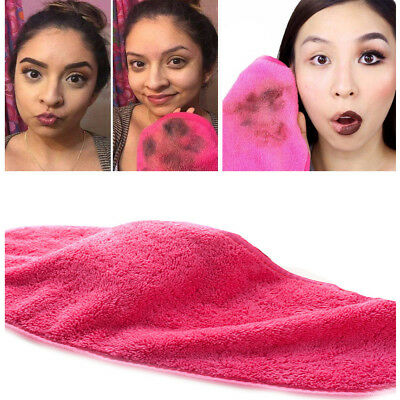 Cleansing Towel - Microfiber Cloth Pads Remover Towel Face Cleansing Makeup-Clean Water Towels Red