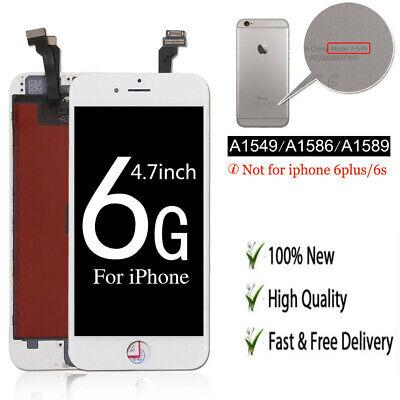 Display LCD für iPhone 6 mit RETINA Glas Scheibe Bildschirm Front WEISS WHITE