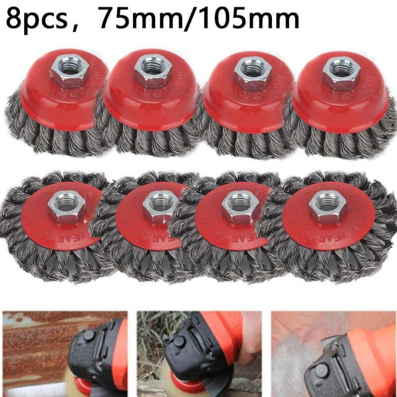 5 x Wire Brush Set Wheel disc for Cleaning Painting Angle Grinder and Drill SYD
