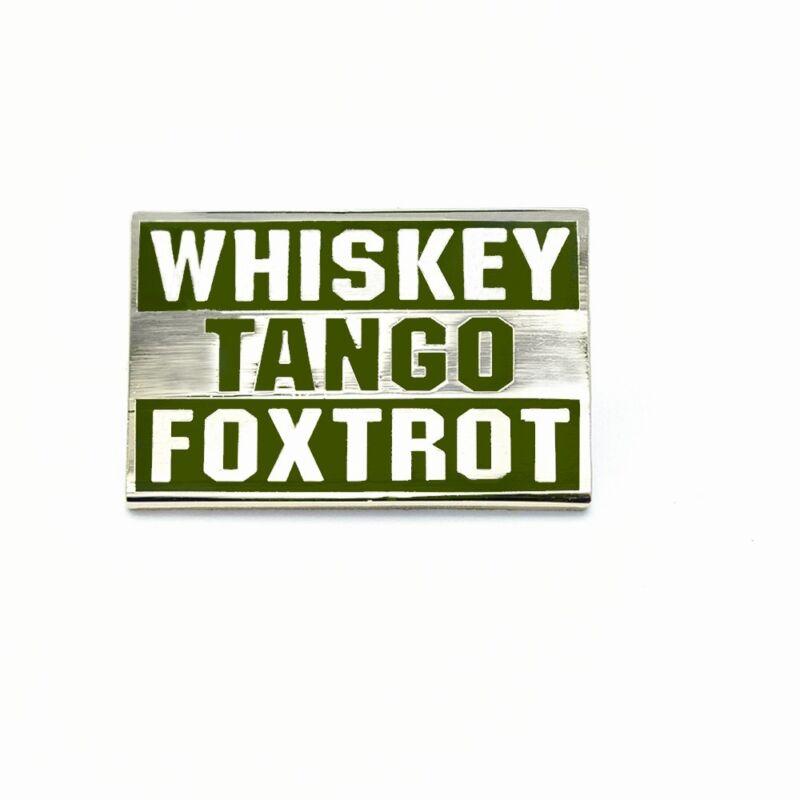 Bastion Morale Enamel Lapel Pin for Men Women Display Whiskey Tango Foxtrot ODG