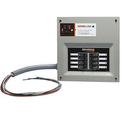 Generator Indoor Transfer Switch - Generac 30A Indoor Transfer Switch Kit for 6-8 Circ Stand-Alone 6852 New