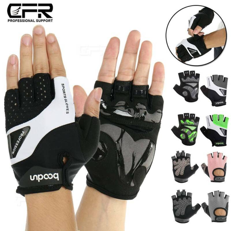 Mens Ladies Gym Gloves Straps Weight Lifting Gloves Bodybuilding Training S-XXL