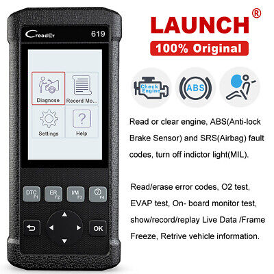 LAUNCH X431 CR619 OBD2 Scanner ABS Airbag SRS Data Engine Check Diagnostic Tool
