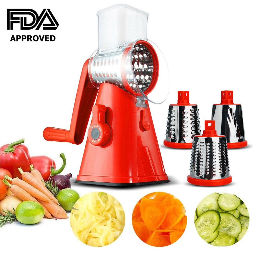 Rotary Mandoline Vegetable Fruit Cutter Slicer Shredder Chee