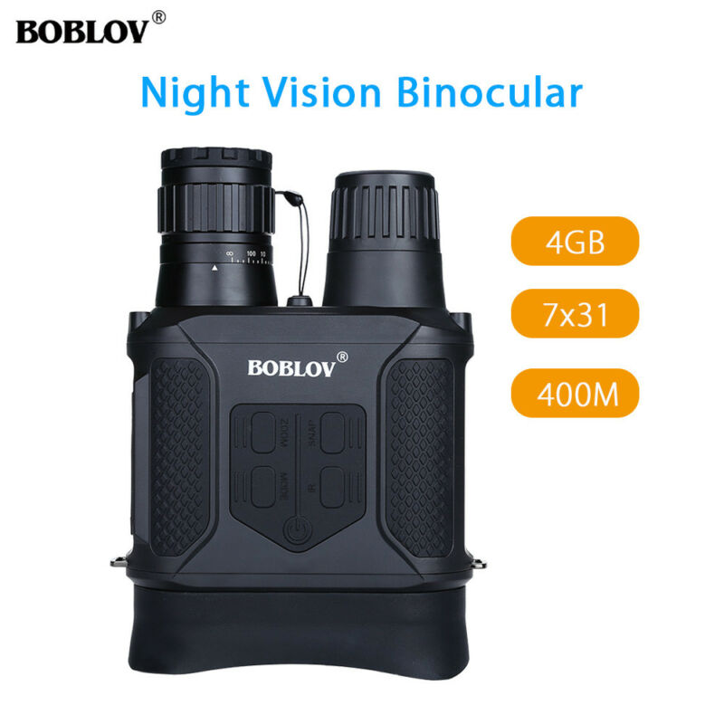 Day and Night Vision Infrared 7x31 Zoom Binocular Scope Telescope 400M For Outdoor