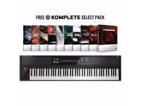 Native Instruments Komplete Kontrol S88 Weighted RGB Keyboard - As New, with Komplete Select