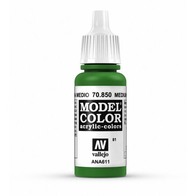 Vallejo Model Color: Medium Olive - VAL70850 Acrylic Paint 17ml Bottle 081