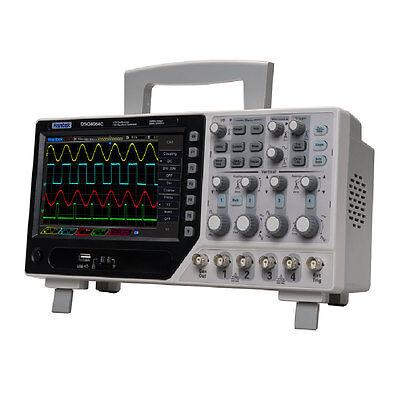 Hantek 4ch Digital Oscilloscopeextdvmauto Range Function 80-250mhz Bandwidth