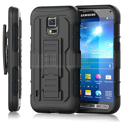 Hybrid Rugged Case Impact Cover Armor Holster For Samsung Galaxy S5 Active G870
