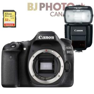 Canon EOS 80D Body + BUNDLE