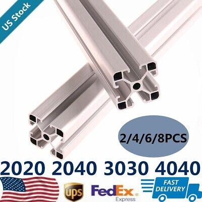 2/4/6/8PCS 2020 3030 4040 2040 Extrusion Anodized T Slot Linear Rail 300-1000mm