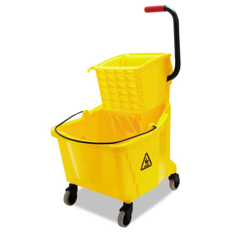 Boardwalk Pro-Pac Side-Squeeze Wringer/bucket Combo, 8.75gal, Yellow  2635COMBOY