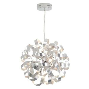 Used Artika FA27SLF-HD1 Fame Pendant Chandelier Light Fixture with Integrated LED, 18-inches, Chrome Finish Condition...