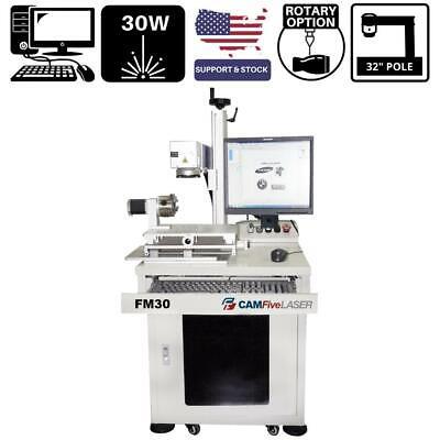 30w Camfive Laser Industrial Fiber Engraver Marker Fm30 Galvo For Metal Others