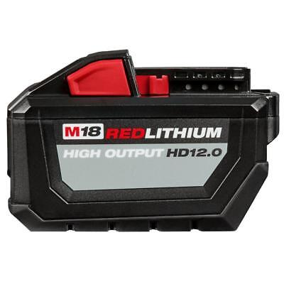 Milwaukee 48-11-1812 M18 RED LITHIUM High Output HD12.0 Battery Pack-2018