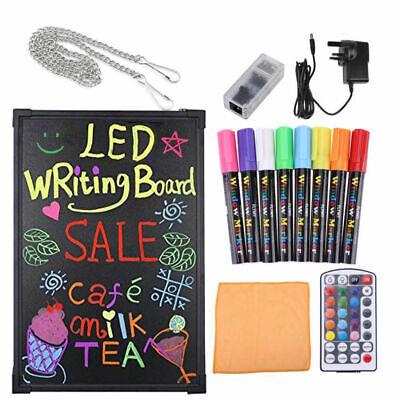 Flashing Illuminated Erasable Neon LED Message Menu Sign Writing Board Set (Led Illuminated Message Board)