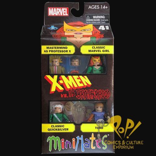 "Marvel Minimates X-Men vs Brotherhood Evil Mutant 4-Pack Box Set 2/"" Figures NEW"