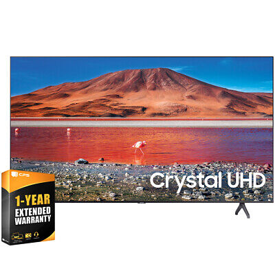 "Samsung UN55TU7000FXZA 55"" 4K UHD Smart LED TV 2020 Model with Extended Warranty"