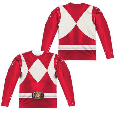 Power Rangers RED RANGER Costume 2-Sided All Over Print Long Sleeve Poly - All Power Ranger Costumes