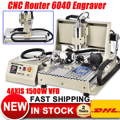 1.5kw Vfd Usb 6040 4axis Cnc Router Engraver 3d Cutter Mill Woodworking Machine