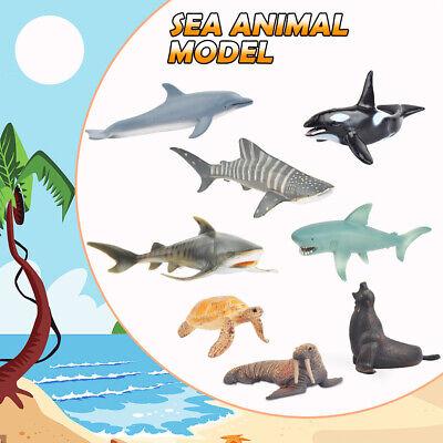 Meerestiere Spielzeug Badespielzeug Figuren Spielfigur Spielzeugset Safari Wal