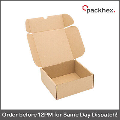 25x Die Cut Folding Lid Postal Cardboard Parcel Box Small Shipping 6x6x2.5