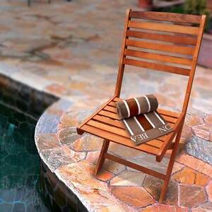 Luxo Keppel Eucalyptus Timber Folding Chair Seven Hills Blacktown Area Preview