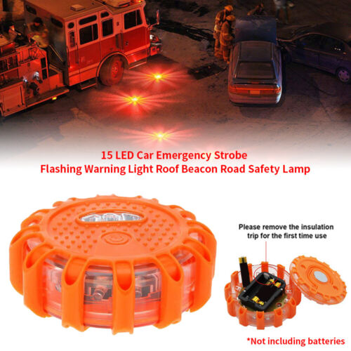 15LED Car Emergency Strobe Flashing Warning Light Roof Beacon Road Safety Lamp