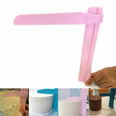 Adjustable Fondant Cake Scraper Icing Piping Cream Spatula Edges Smoother us