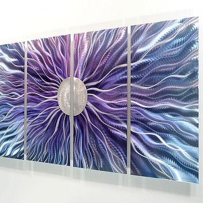 Statements2000 3D Metal Wall Art Panels Abstract Purple Silver Decor Jon Allen