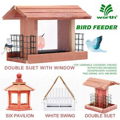 Songbird Essentials BIRD FEEDER Handmade Cedar Wooden Outdoor Tree Hanging Patio