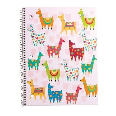 Staples 1 Subject Notebook Wide Ruled Llamas 8 X 10-12 2842741