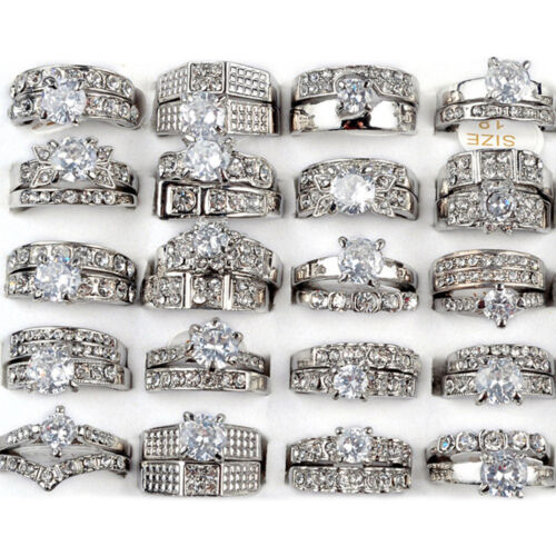 lot 10/30x wedding ring women ... Image 1