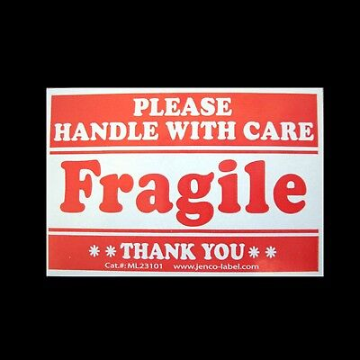 100 Fragile Stickers 2x3 Handle Wcare Labels Ml23101