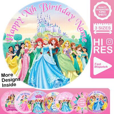 Disney Princess Cake Topper Personalised Edible Icing
