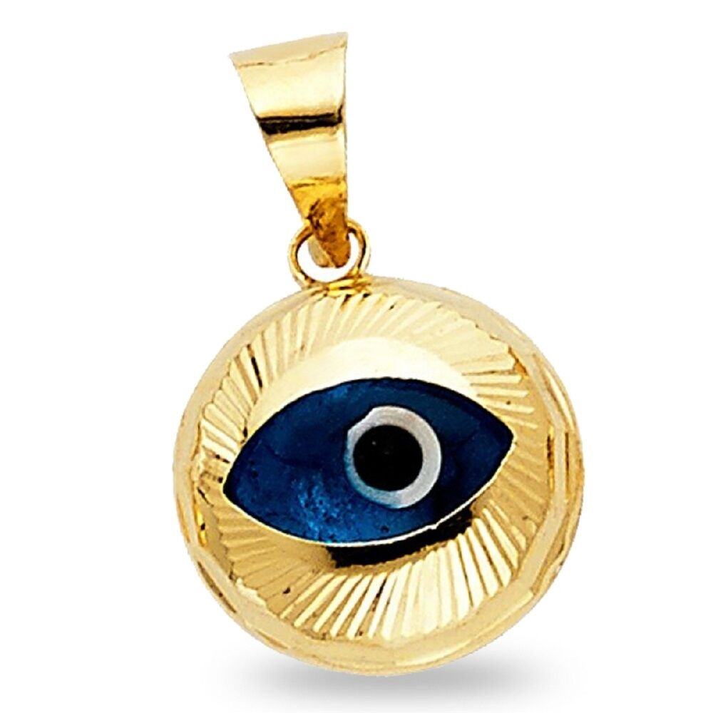 14K Greek Evil Eye /& Butterfly Charms in Chain Bracelet.14K Yellow Solid Gold.Good Luck and Protection Jewelry.