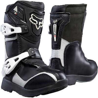 FOX KIDS PEE WEE COMP 5K MOTOCROSS MX BIKE BOOTS - BLACK / SILVER Fox Comp 5 Boots