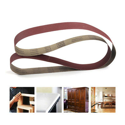 "6Pcs 2"" x 82"" Aluminum Oxide Sanding Belts Abrasive Tools Used On Wood 180 Grit"