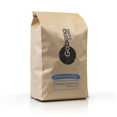 5lb Fair Trade Organic Peruvian Coffee Whole Bean Fresh Roasted FREE SHIPPING! Organic Fair Trade