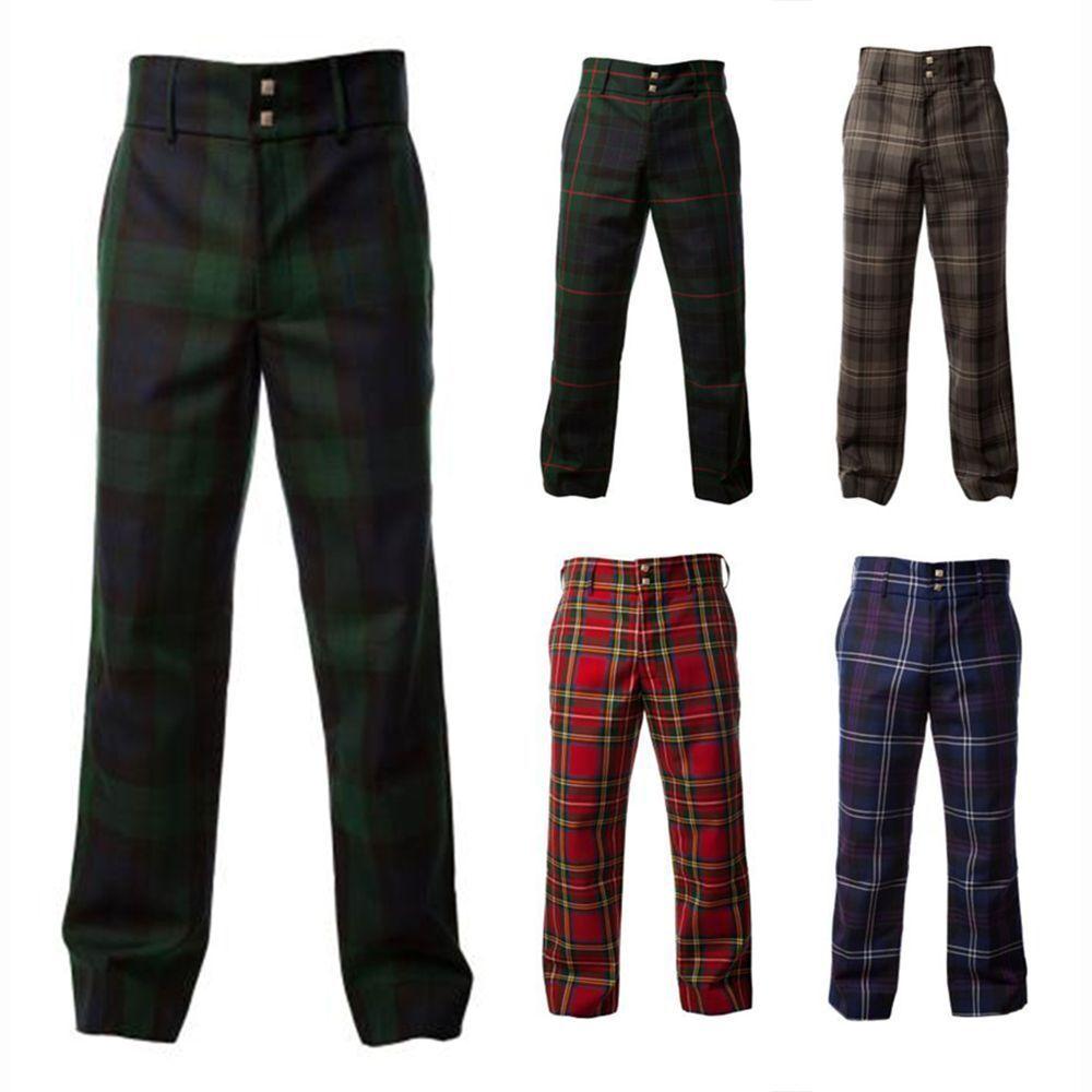 NUOVO formale Pantaloni da golf Uomo SCOZZESE - Vari Tartan - tutte le taglie