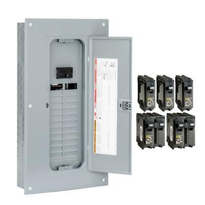 Square D Main Breaker Box Kit 100 Amp 24-space 48-circuit Indoor Value-pack
