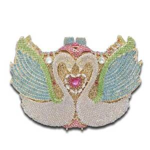 Brand New Luxury Crystal Swan Bridal/Evening Clutch Bag Crescent Head Kempsey Area Preview